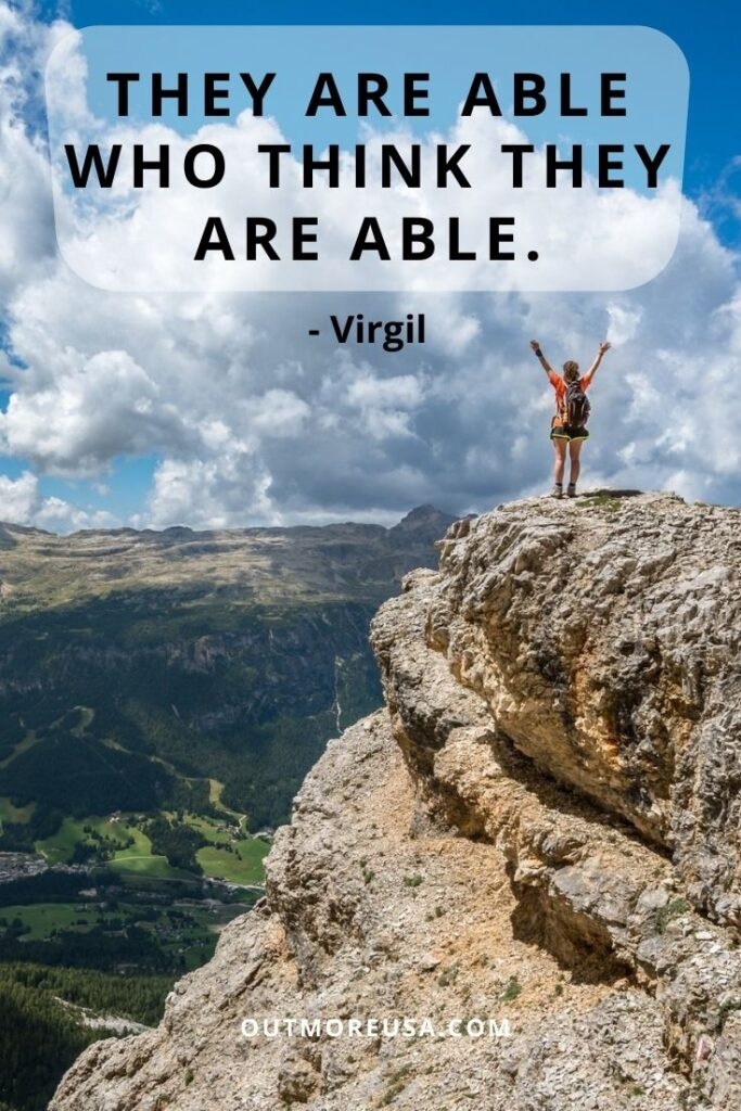 """They are able who think they are able."" - Virgil quotes 