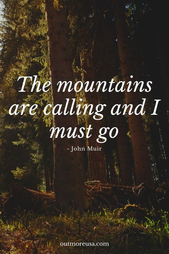 """The mountains are calling and I must go.""  -John Muir quotes 