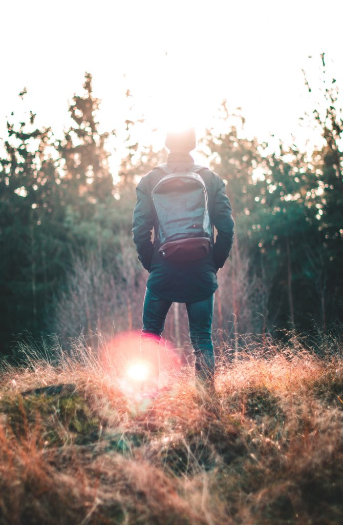 Hiker wanders off trail