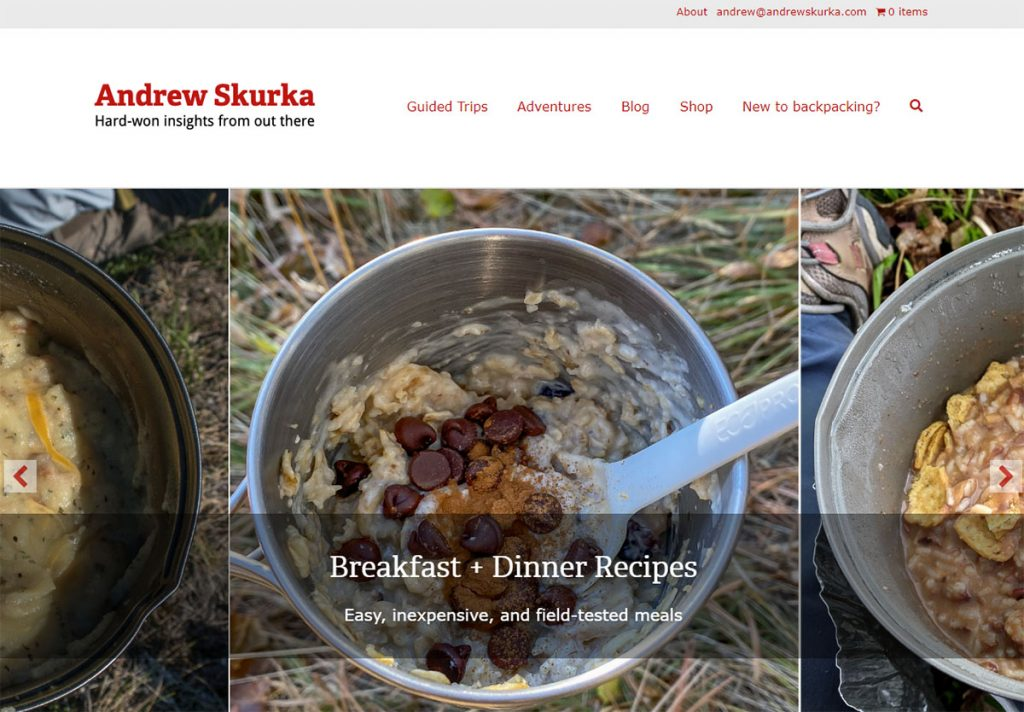 There are very few people more qualified to write about long distance backpacking and running than Andrew Skurka. And his blog has it all - food, plans, gear, advice, etc.
