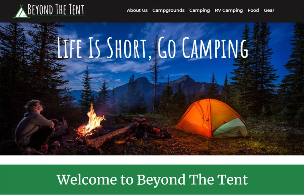 Ran by family man/adventurer Ryan Cunningham, Beyond the Tent is very family orientated.