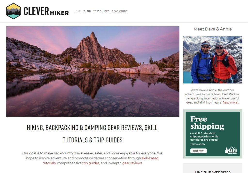 Backpacking couple Dave Collins and Annie Hopfensperger, bring you Clever Hiker, a backpacking blog about being smart with your gear, your skills, and your trips.