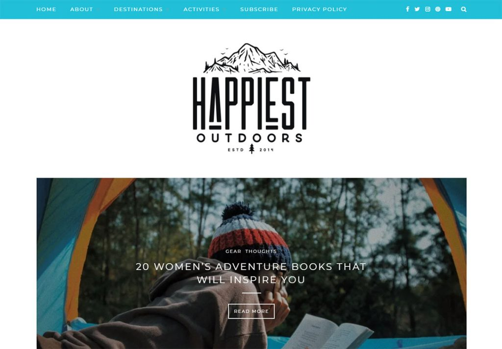 Taryn Eyton is happiest when she's outdoors and she wants to tell you about it in Happiest Outdoors. She hikes, she travels, she snowshoes, and she does a lot more.