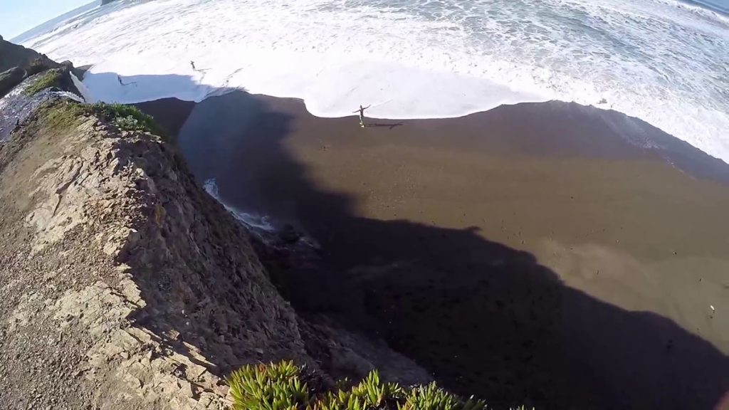 Looking down from the top of Alamere Falls coming from Palomarin Trailhead