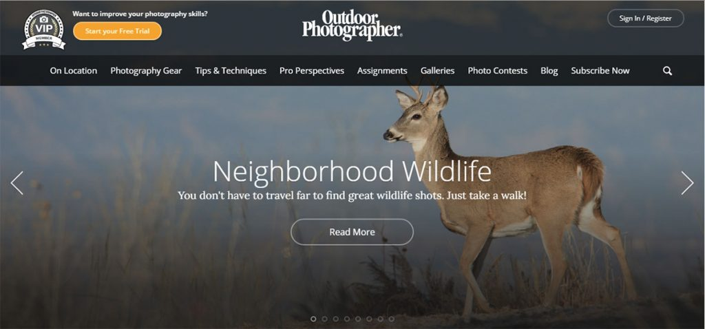 Outdoor Photographer has everything you need to know make your pictures look pro. Even if you're not into photography, it's worth checking out the beautiful images including the Photo of the Day.
