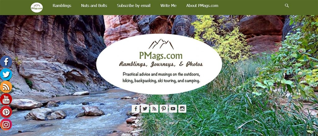 """PMags is the website of Paul Magnanti (Mags) and Joan West. It is a collection of useful tips and entertaining """"musings"""" that are mostly outdoor focused but drift into topics like Italian food."""
