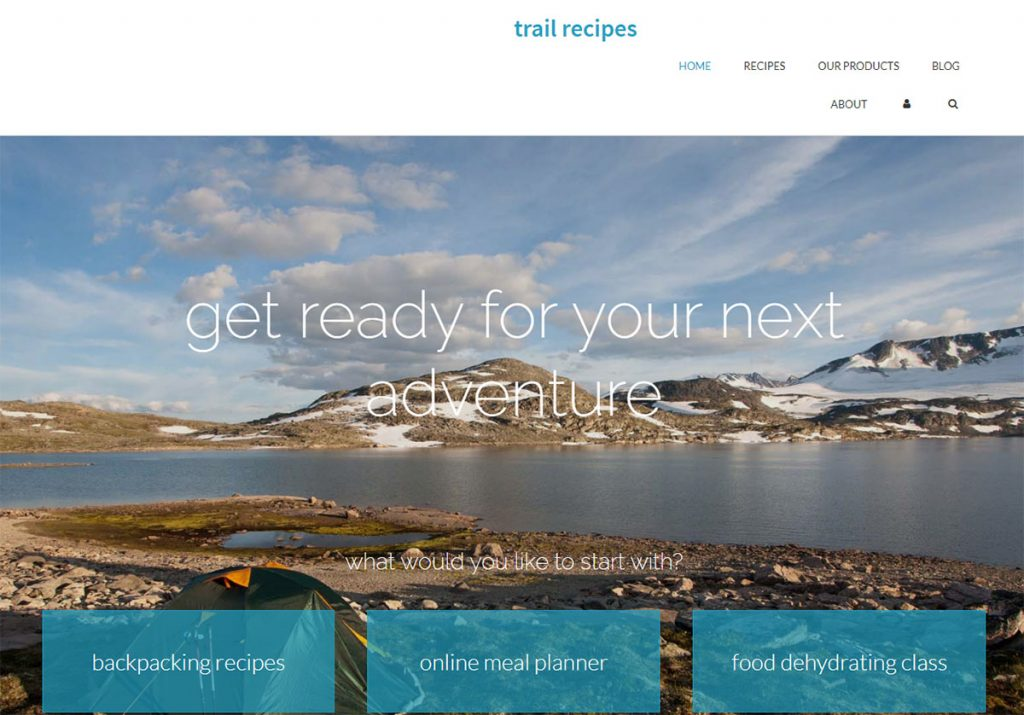 Trail recipes has so many great recipes, it really is an invaluable resource for all outdoor enthusiasts. Besides recipes, it's got tutorials about how to dehydrate your own food, food ideas for trips, food planning tips, and on and on.