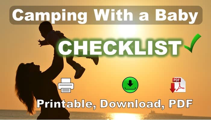 Camping With a Baby Checklist - Download, PDF, Print