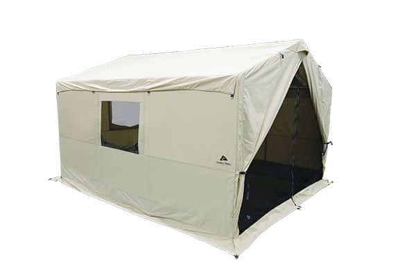 White Duck Canvas Wall Tent with stove jack