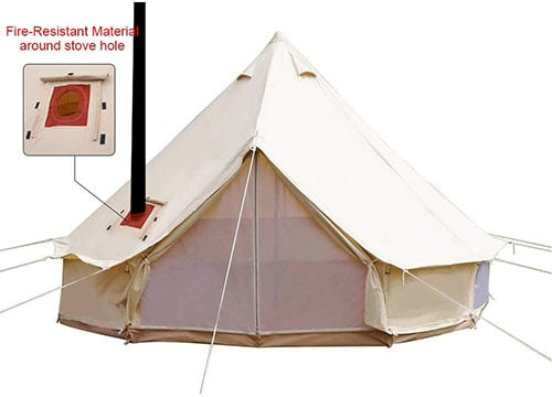 PlayDo Cotton Canvas Bell Tent with stove jack