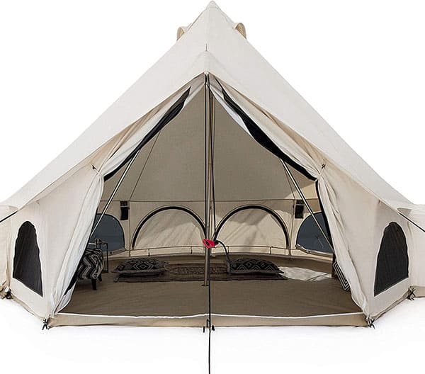 White Duck Canvas Bell Tent with stove jack