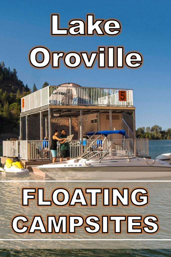 Floating Campsites at Lake Oroville