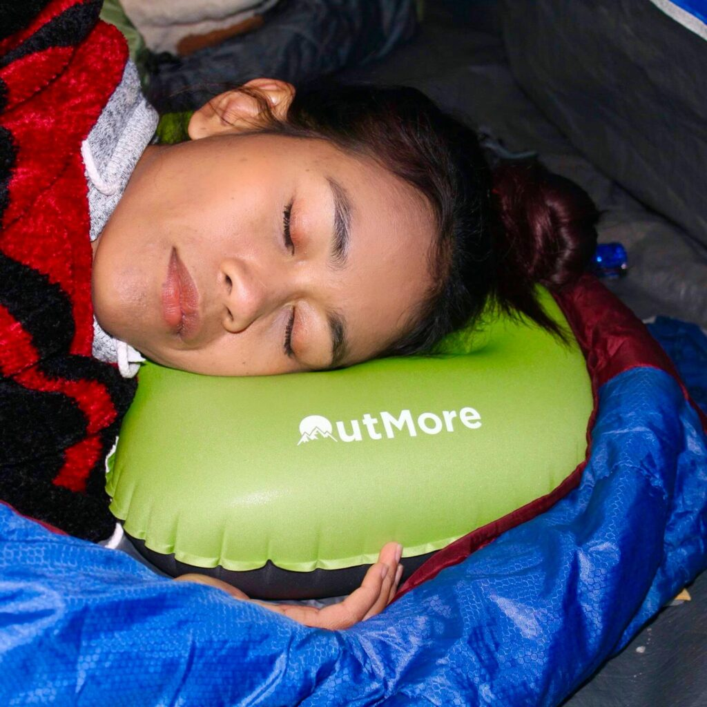 Inflatable camping pillows are convenient, inexpensive, and comfortable